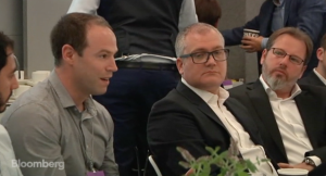 Jonny alongside Alex Chesterman and Russel Quirk at the Bloomberg property technology debate