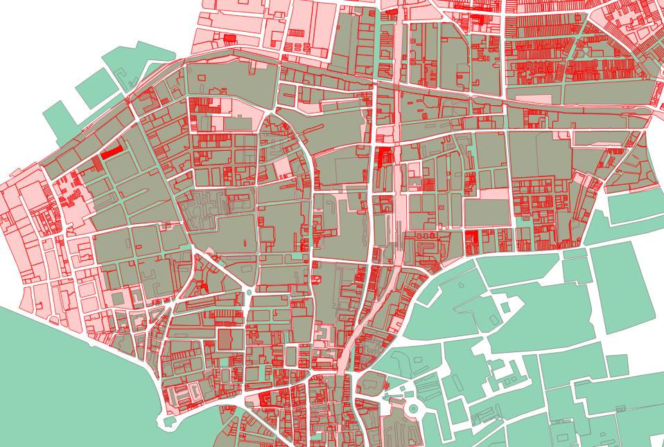 Land boundaries in Hackney, London