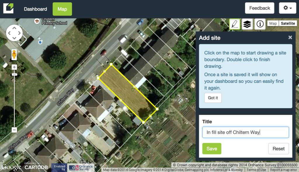 Screen shot of Land Insight