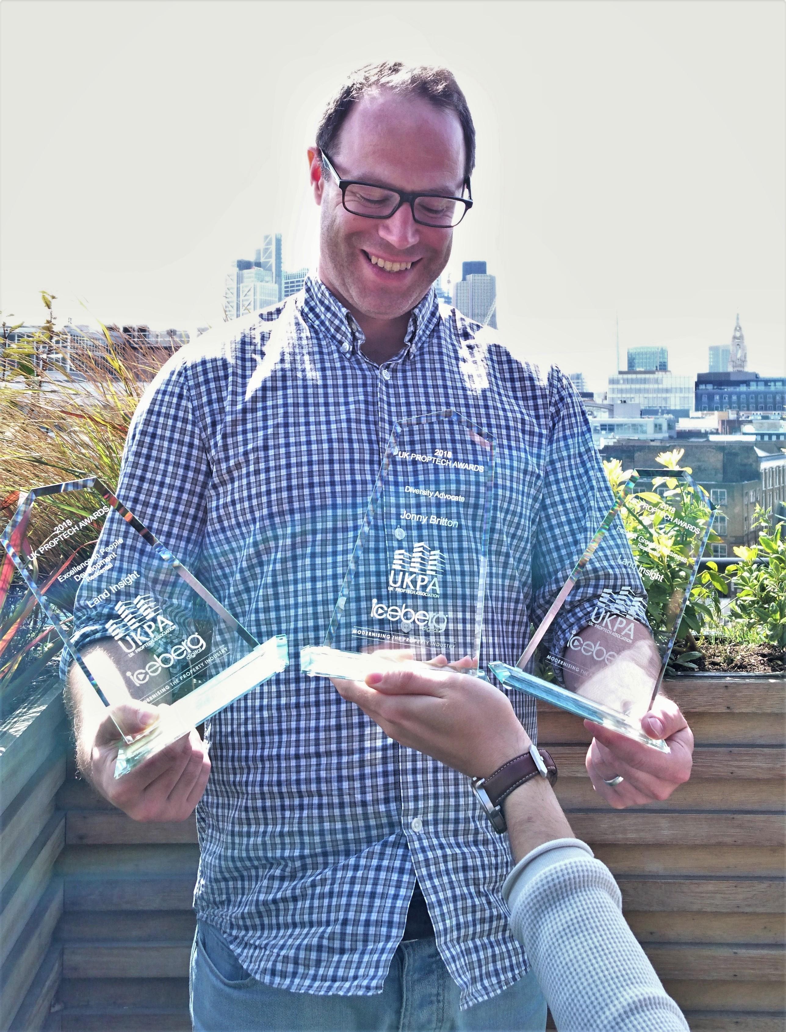 Jonny with the awards